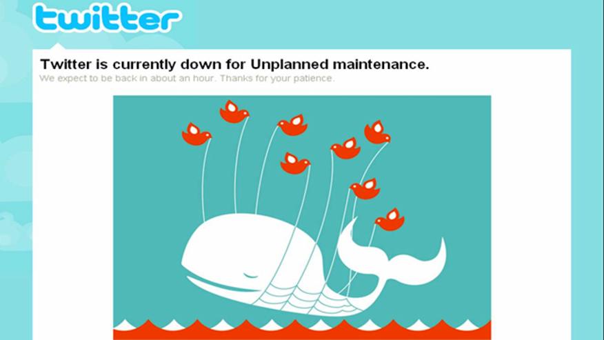 """Twitter """"Fail Whale"""""""