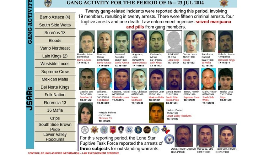 Gang and fugitive arrests