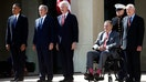 All five living U.S. presidents have gathered for the dedication of George W. Bush's Presidential Library and Museum in Dallas, Texas.
