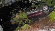 A Maine logger helped save an infant from drowning when he crawled into a car that was upside-down in water and used a knife to cut the straps off her car seat and pull her out, police said.