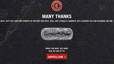 A free burrito to lure you back.
