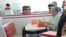 The man was seen eating twice at the popular West Coast burger chain In-N-Out.