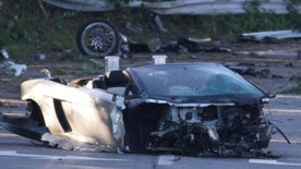 A New York teen taking a test drive of a family friend's Lamborghini has died after crashing the high-powered sports car into a guardrail.