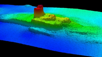 The first images of the newly discovered wreckage of a steamship that sank in San Francisco Bay in , killing  people, were released Wednesday by federal ocean scientists.
