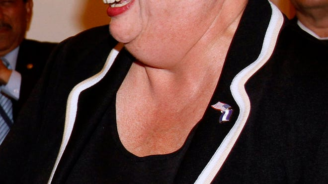 27, 2010, file photo, Mari Carmen Aponte, the U.S. ambassador to El Salvador ...