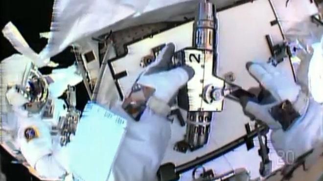 Spacewalking repair halts station leak – for now