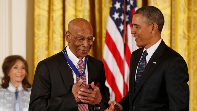 Chicago Cubs legend Ernie Banks has died at the age of . Banks compiled  career home runs in  major league seasons and was inducted into the Baseball Hall of Fame in .