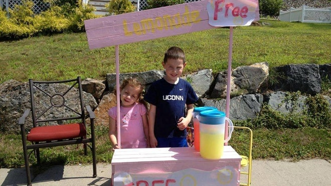 In the wake of a senseless atrocity that shook the nation, one Newtown, Conn., family founded a charity with the simple goal of teaching kids to be kind - and free lemonade is helping to spread the message.