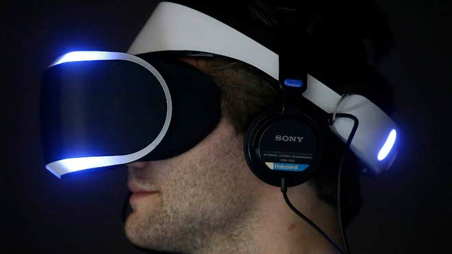Sony announced at the Game Developers Conference Tuesday it plans to release a virtual-reality headset in .
