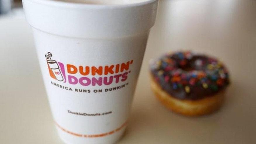 Styrofoam Cup Dunkin : Dunkin donuts phasing out styrofoam cups fox news