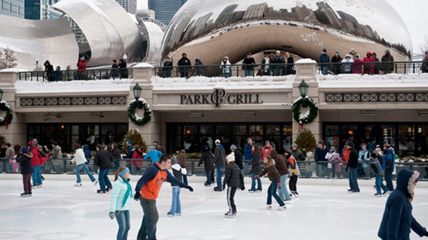 Chicago Bean Ice Skating in Chicago is Ice Skating