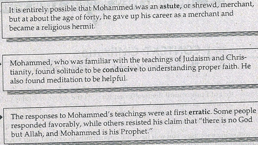 High School: Islamic vocabulary lesson part of Common Core standards