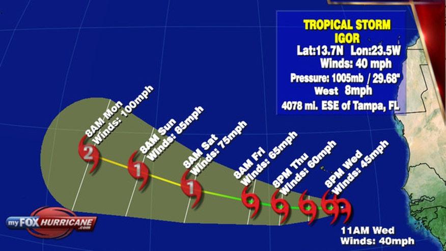 Tracking Tropical Storm Igor