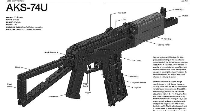 how to build a lego gun replica