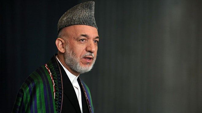 Karzai votes in Kabul