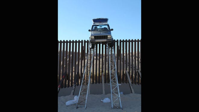 While Trying To Drive Over Fence Us Customs Border Protection