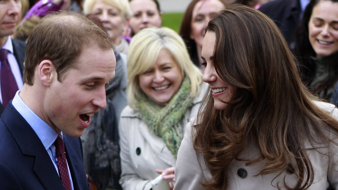 Britain Royal Wedding: Prince William and Kate Laughing