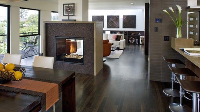 9 Gorgeously modern kitchen fireplaces | Fox News