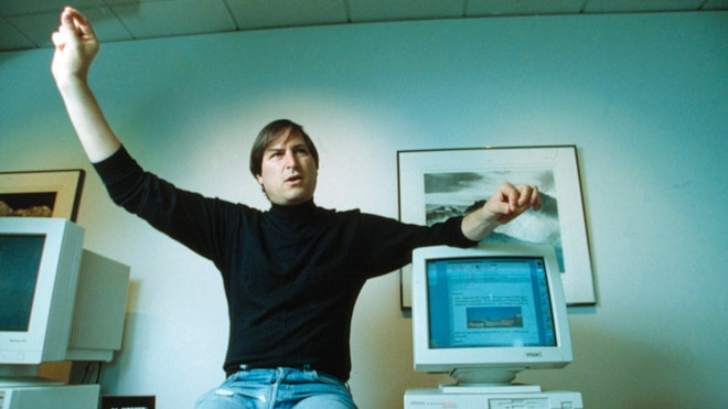 Steve Jobs at Next Computer in 1993 AP