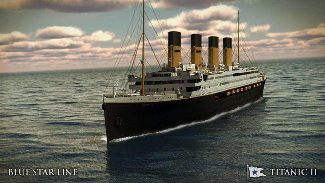 Billionaire releases plans for Titanic replica set to sail in 2016