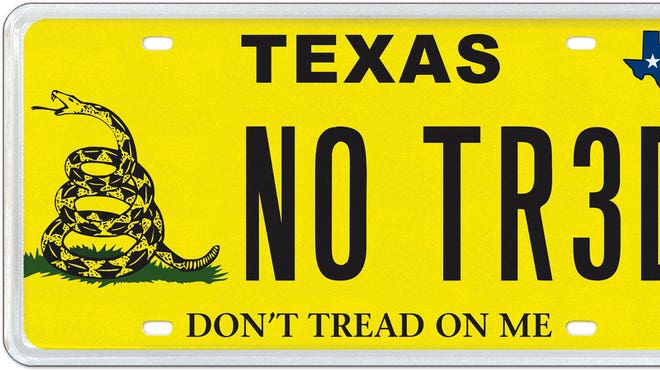 Texas Gadsden License Plate