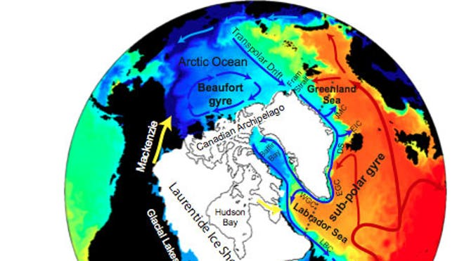 The incredible image that reveals how the Earth's oceans plunged the planet into a catastrophic big freeze  Surface-salinity-map