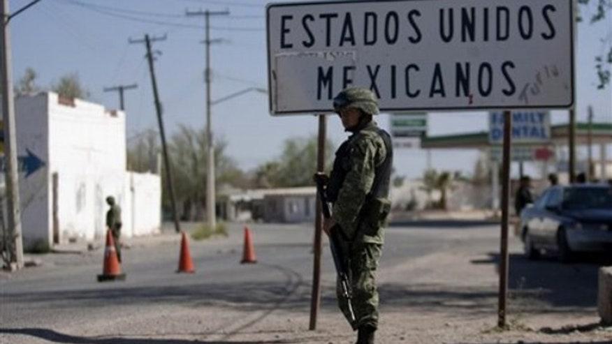 U.S.-Mexico border in Caseta