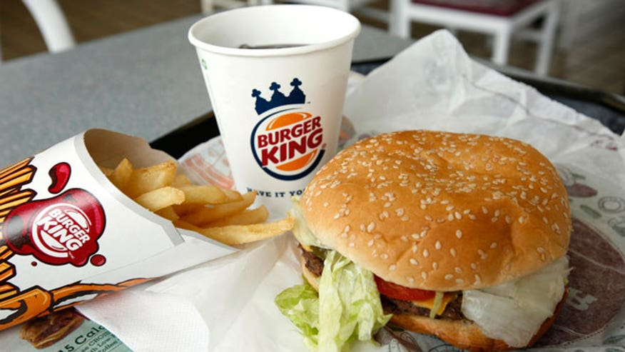 Burger King Meal Burger Fries Drink