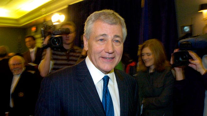 Inauguration, Man Hunter and Chuck Hagel