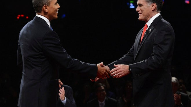 Presidential Debate, Obama Romney