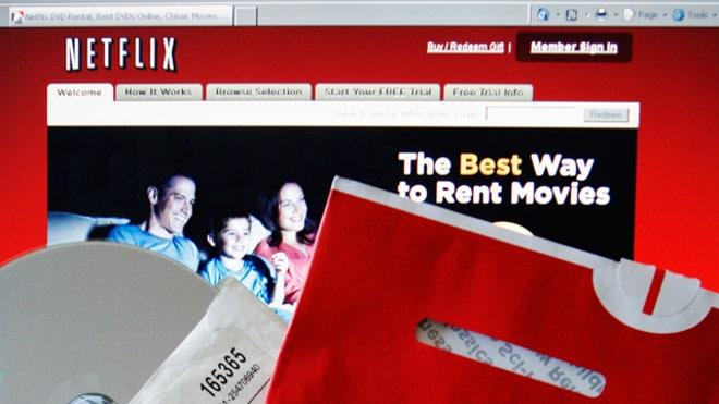 Netflix Envelope and Laptop