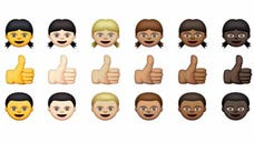 Lovers of emojis, the cute graphics that punctuate online writing and texts, will soon be able to pick from different skin tones and depictions of families with two moms or two dads on Apple devices.