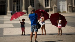 The number of tourists visiting Spain jumped by  percent in the first six months of , as a mix of economic concerns and fears of extremist attacks continued to drive foreigners away from rival Mediterranean destinations.