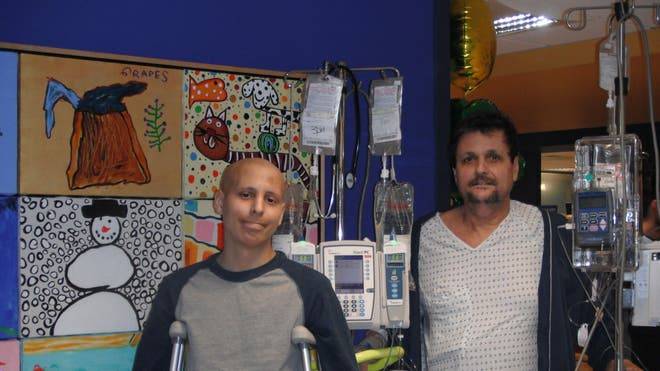 Peter and his dad at MSKCC.jpg