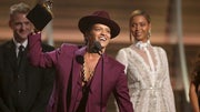 While the world was busy dancing to Bruno Mars' Uptown Funk at the top of , the singer was partying in the studio and creating his latest groovy hit.