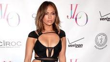 Jennifer Lopez celebrated her birthday wearing a cut-out sheer black dress by L.A.-based designer Bao Tranchi.