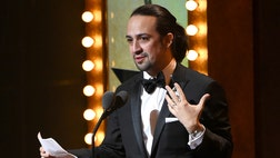 In an impassioned speech motivated in part by his win and the tragic mass shooting that happened only hours before in Orlando, Lin-Manuel Miranda dedicated one of his many Tony wins to love.