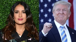 Salma Hayek claims the story of her rejecting Donald Trump years ago which reportedly led to a tabloid story is insignificant to this election.