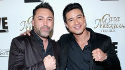 "The actor and ""Extra"" host is set to fight no other than boxing legend Oscar De La Hoya to benefit Utah-based non-profit group CharityVision."