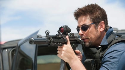 Benicio del Toro opens up about playing a mysterious hitman on Sicario.