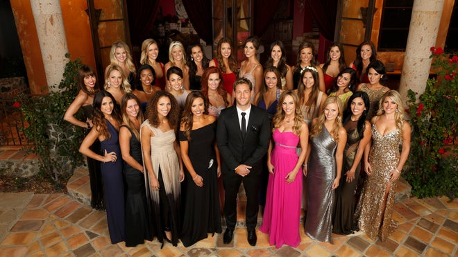 Juan Pablo Galavis And Contestants.jpg