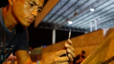 A pilot program in Colombia goes to around hoping to swap new syringes for used ones so they don't end up in public parks, where children can step on them or they can be reused by other addicts, increasing the risk of HIV or hepatitis transmission.