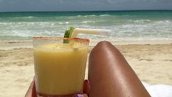 If you're drinking out in the sun, there's one other major risk you can be exposing yourself to if you're handling any citrus fruits: phytophotodermatitis, a.k.a., lime disease.