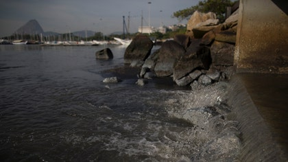 The waters where Olympians will compete in swimming and boating events next summer in South America's first games are rife with human sewage and present a serious health risk for athletes, as well as for visitors to the iconic beaches of Rio de Janeiro.