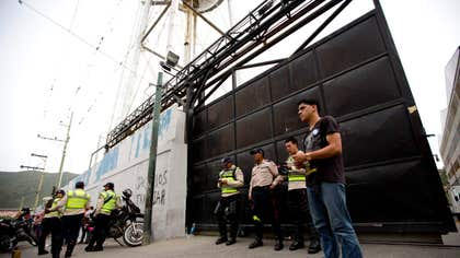 Early Thursday, union workers protested against the government's decision in La Yaguara, on the west of Caracas and where the warehouses are located.