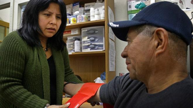 Latino Americans in healthcare centre USA
