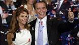 Maria Shriver and Arnold Schwarzenegger celebrate gubernatorial victory AP