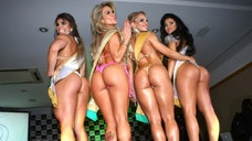 Showing off her impressive behind to a panel of judges, Carvalho beat out the other  BumBum finalists – including pre-contest favorite Claudia Allende – to claim the title of best butt in Brazil and a check worth over $,.