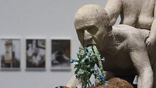 A new exhibit in Barcelona has a sculpture depicting former Spanish King Juan Carlos being sodomized.