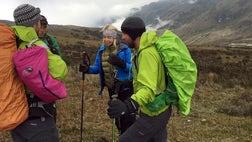 Boston Marathon bombing survivor Adrianne Haslet can check mountaineering off her bucket list.